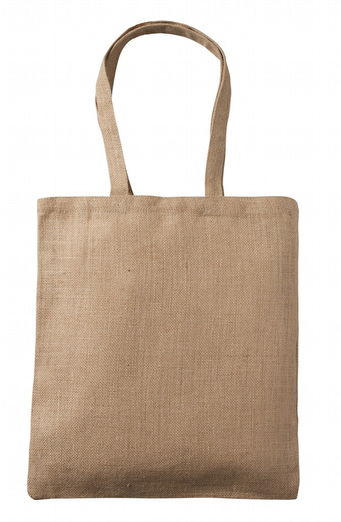J 0129 NT - Raw Jute Simple Shoulder Bag