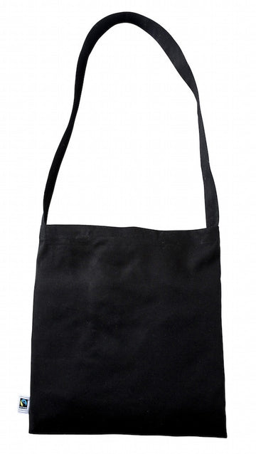 FT 0142 BK – (Black Fairtrade Cotton Messenger Bag)