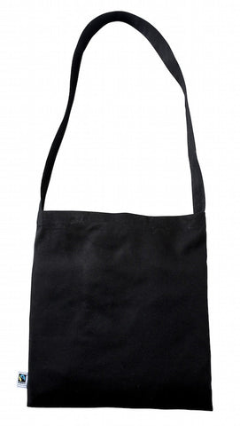 TB 0142 FT – BK (Black Fairtrade Cotton Messenger Bag)