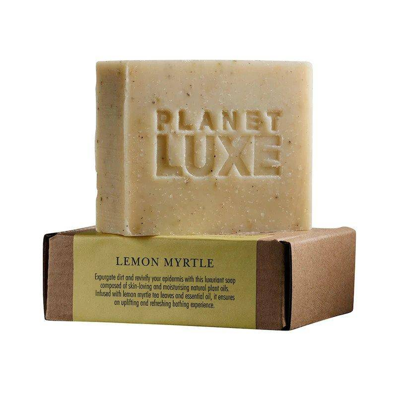 Planet Luxe Lemon Myrtle Artisan Crafted Soap 130g