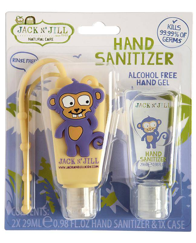 Jack N' Jill Alcohol Free Hand Sanitizer - Monkey 2 Pack 29mL