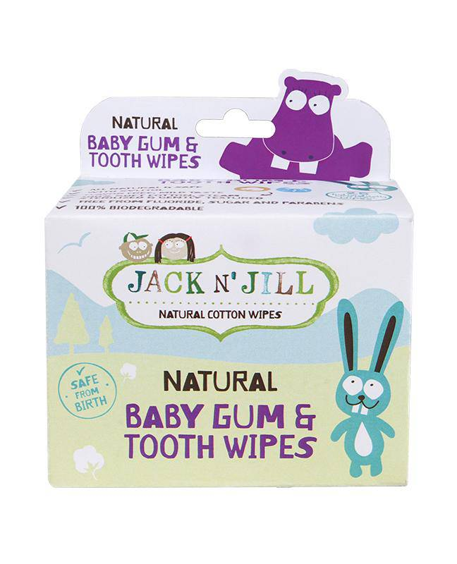 Jack N' Jill Baby Gum & Tooth Wipes - 25 Pack