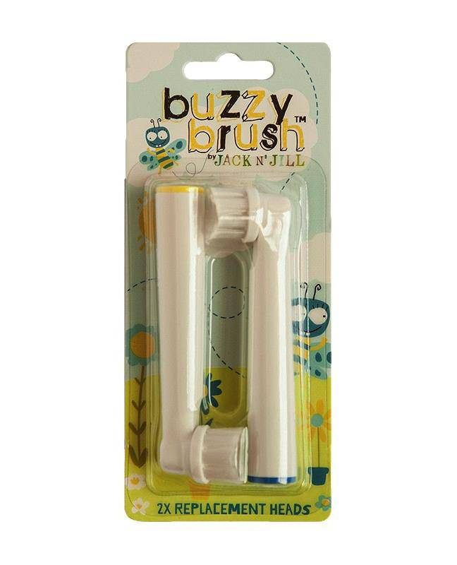 Jack N' Jill Buzzy Brush Replacement Heads - 2 Pack