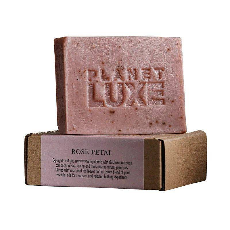 Planet Luxe Rose Petal Artisan Crafted Soap 130g