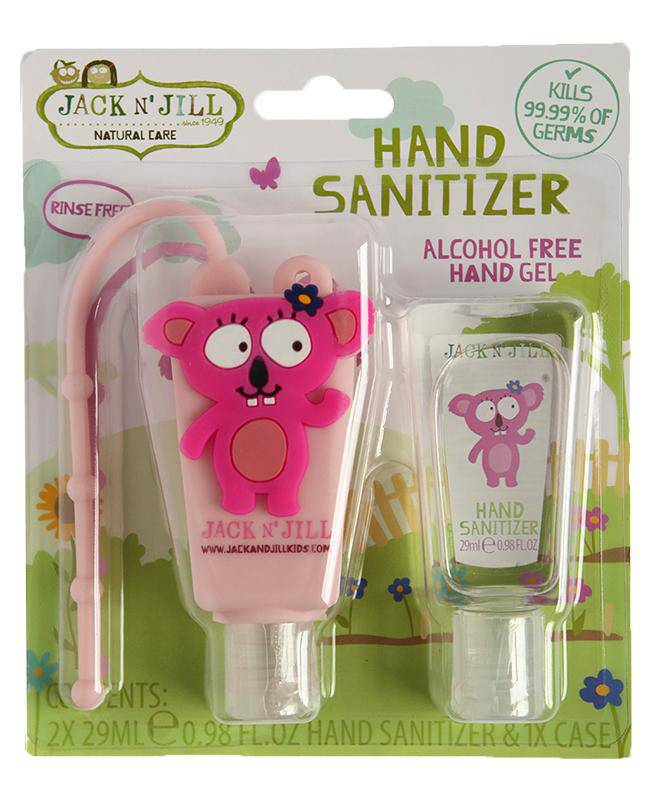 Jack N' Jill Alcohol Free Hand Sanitizer - Koala 2 Pack 29mL