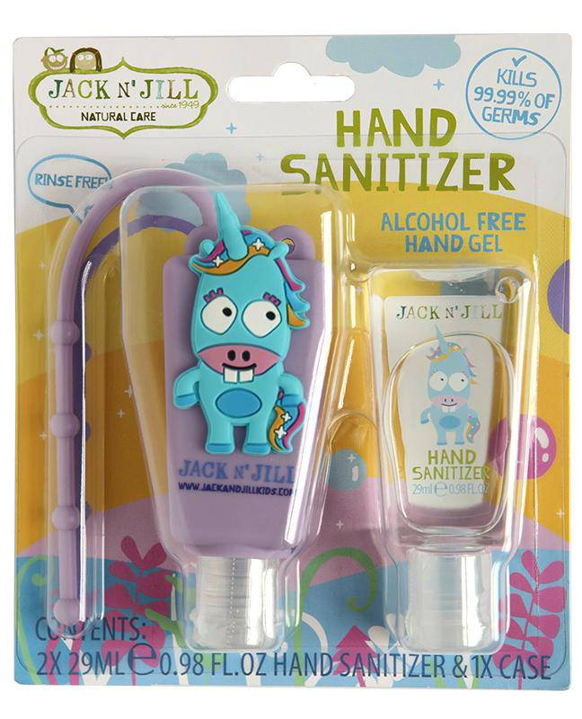 Jack N' Jill Alcohol Free Hand Sanitizer - Unicorn 2 Pack 29mL