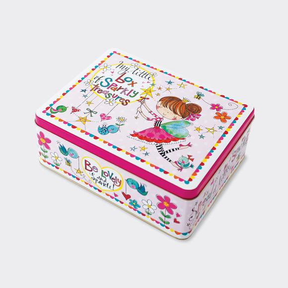 RECTANGULAR TIN‐ BOX OF SPARKLY TREASURES/FAIRY