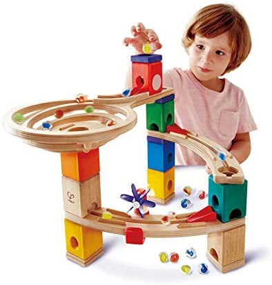Quadrilla Race To The Finish Wooden Marble Run Age From 4 To Adult