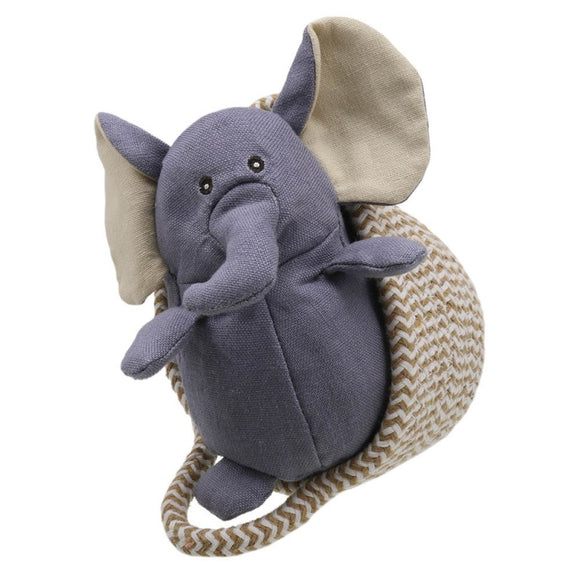 Wilberry Pets in Baskets - Elephant (grey)