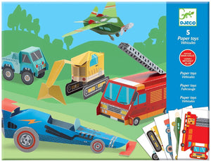 Djeco Paper Toys Vehicles DJ09702