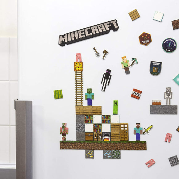 Paladone Minecraft (mine craft) Magnets - 80 Build a Level Magnets
