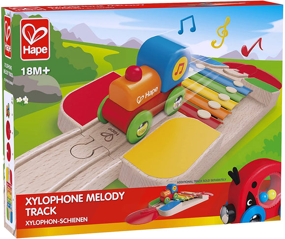Hape E3813 Xylophone Melody Track Toy - Compatable with Brio & other wooden train sets.