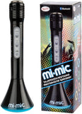 Mi-Mic Kids Karaoke Microphone Speaker with Wireless Bluetooth and LED Lights, Black