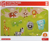 Hape E1405 Jungle Animal Wooden Peg Puzzle - Educational Toy 24M+