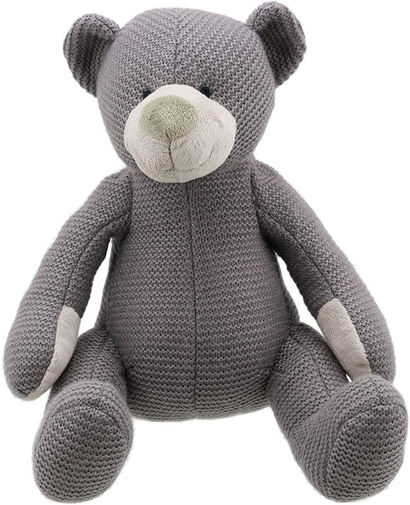 Wilberry Knitted Bear - Small Grey