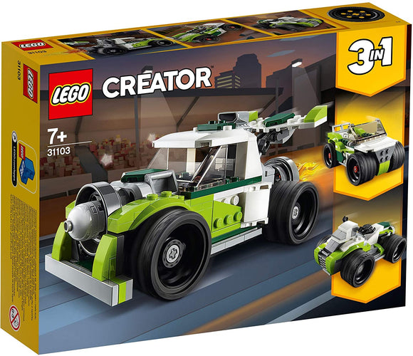 LEGO 31103 Creator 3-in-1 Rocket Truck, Off Roader, Quad Bike Building Set, Vehicle Collection Series