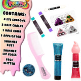 Poopsie Unicorn Surprise Hair and Make Up Set for Girls,Includes Hair Accessories Eyeshadow Palette Face Glitter,Pretend Make Up For Girls,Unicorn Gifts For Children