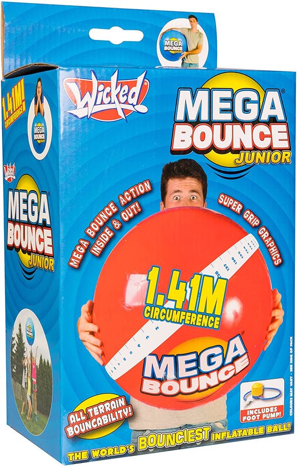 Wicked Mega Bounce Junior Inflatable Bouncing Outdoor Play Ball age 3 to adult