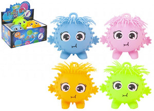 STARRY EYED LIGHT UP PUFFA  CHARACTER BALLS 4 ASSORTED