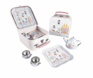 FLOS & ROCK TIN TEA SET 7 PIECE - FAIRY UNICORN