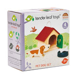 Tender Leaf Toys Pet Dog Set (Suitable for all the wooden dolls houses, as scaled to 1:12)