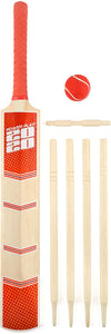 PowerPlay BG889 Deluxe Cricket Set with Cricket Bat, Ball, 4 Stumps, Bails and Bag, Size 5 Bat