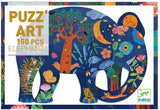 Djeco 150 Piece Puzzle Art Elephant Jig Saw Puzzle (6yrs +) DJ07652