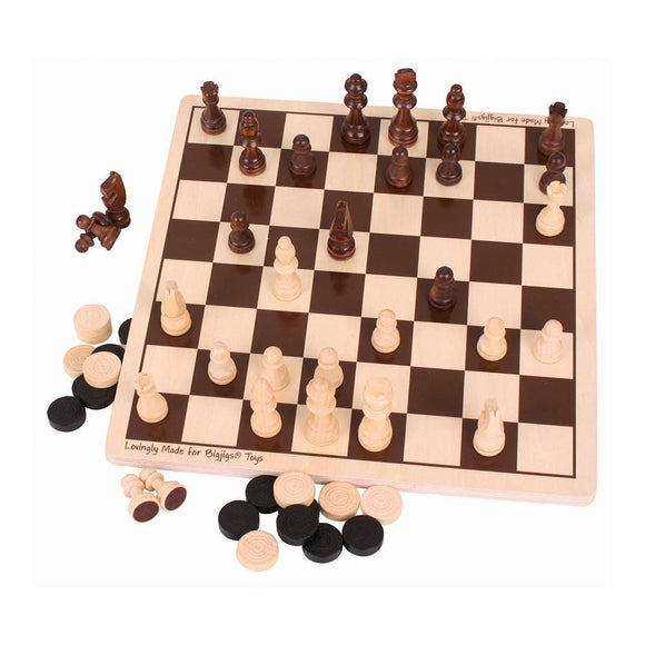 Wooden Draughts And Chess