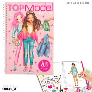 Top Model Dress Me Up Fun Sticker Book & Colouring Pages - by Depesche 10031_A