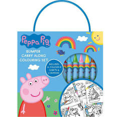 Copy of Peppa pig carry along colouring set