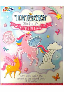Grafix Large Unicorn Colourful Sticker and Activity Book, with 150 Stickers