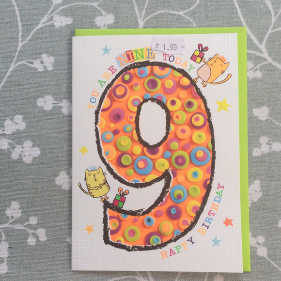 Birthday Card- Cats 9