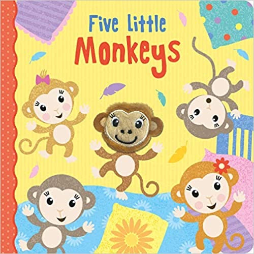 Five Little Monkeys (Finger Puppet Books) Board book – 1 Sept. 2019 by Imagine That (Author), Jenny Coppe