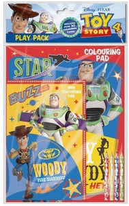 Toy Story 4 colouring pad play pack