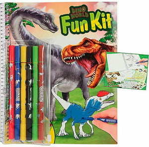 Depesche Dino World Fun Kit Includes 6 Felt Tip Pens Dinosaur Drawing Set 10626_A