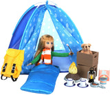 Lottie Dolls Camping Playset | Doll Camping Toys For Girls & Boys | Toy Campfire Doll Camping Accessories | Boy & Girl Camping Toys