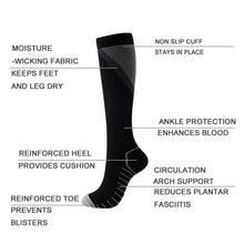 Carregar imagem no visualizador da galeria, Men Women Knee High/Long Compression Socks
