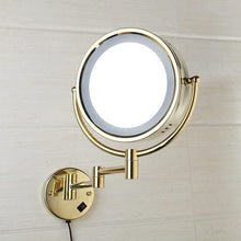 Load image into Gallery viewer, Makeup Mirrors LED Wall Mounted Double Side