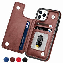 Load image into Gallery viewer, Flip Leather Wallet Case For iPhones