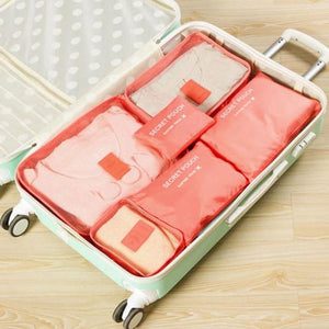 6Pcs Portable Luggage Organizer Travel Waterproof Bags