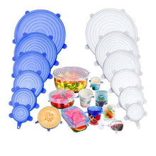 Load image into Gallery viewer, 6Pcs Silicone Stretch Lids Universal