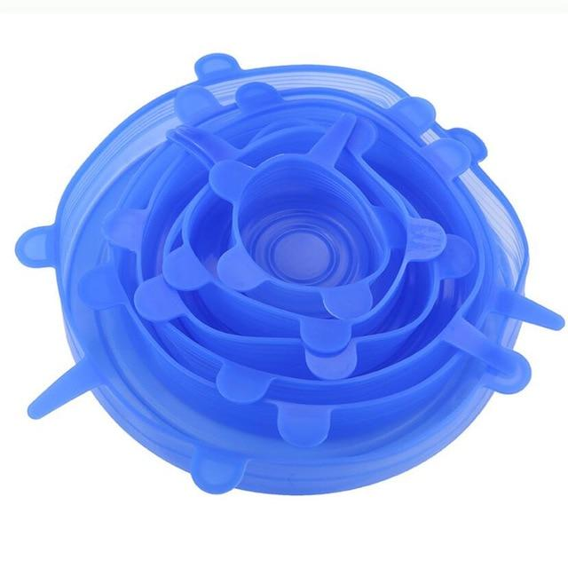 6Pcs Silicone Stretch Lids Universal