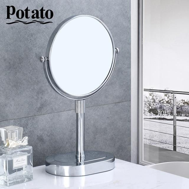 Chrome Round Double-sided 360 Deg 7X Magnifying Mirror 8