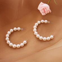Load image into Gallery viewer, Multilayer Strand Simulated Pearl Necklace and Earrings Set