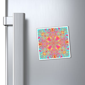 Keeshasaurus Collection: Psychedelic Mandala Magnets