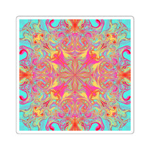 Load image into Gallery viewer, Keeshasaurus Collection: Psychedelic Mandala Square Stickers