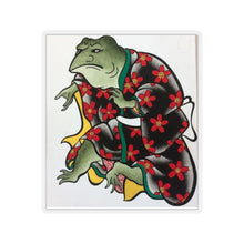 Load image into Gallery viewer, Furry Fox Collection: Samurai Frog Stickers