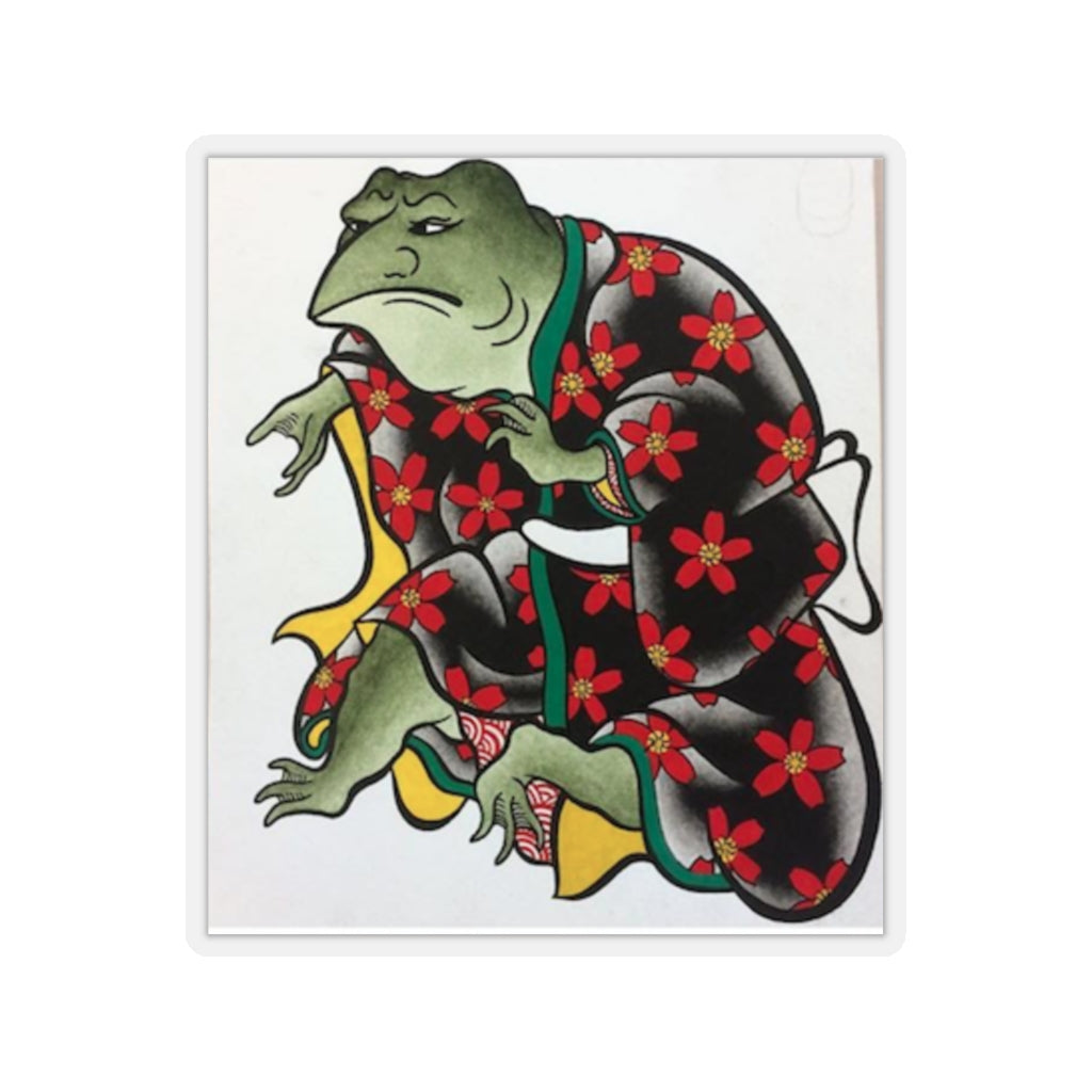 Furry Fox Collection: Samurai Frog Stickers
