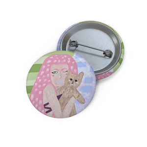 Drucilla Dunn Collection: Self Portrait Pin Buttons