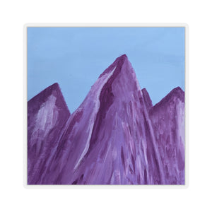 Drucilla Dunn Collection: Purple Mountains Stickers